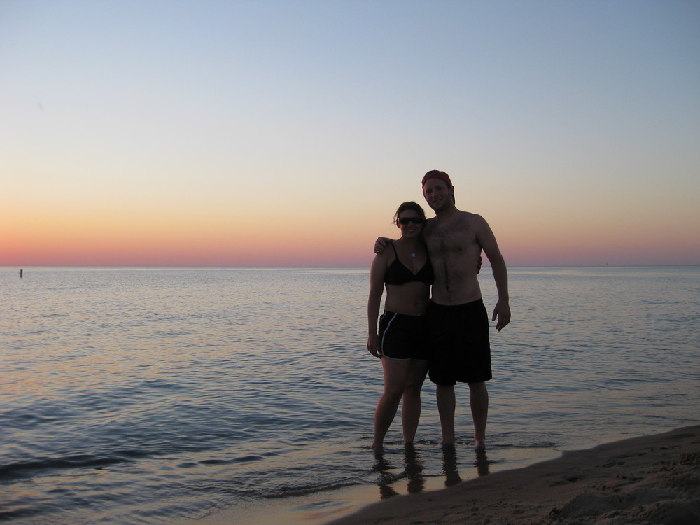 Adam and I at Warren Dunes