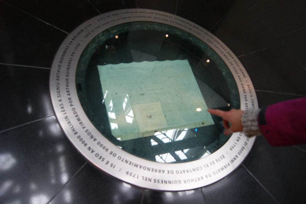 Original Lease of the Guinness Storehouse