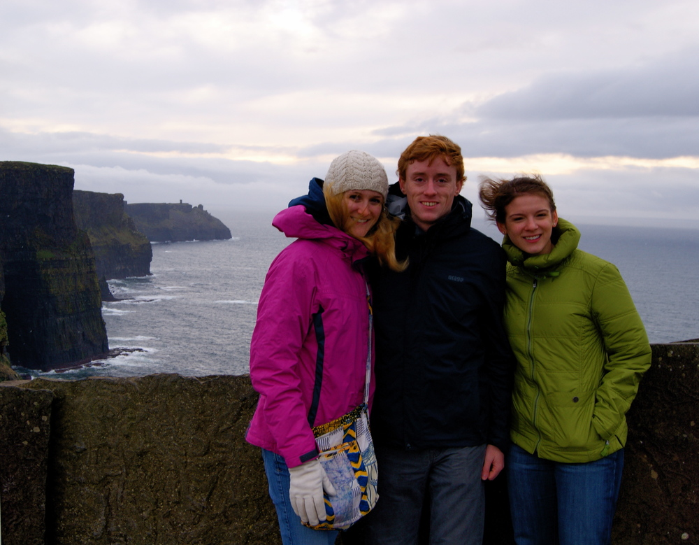 Love these guys - here we are at the Cliffs of Moher