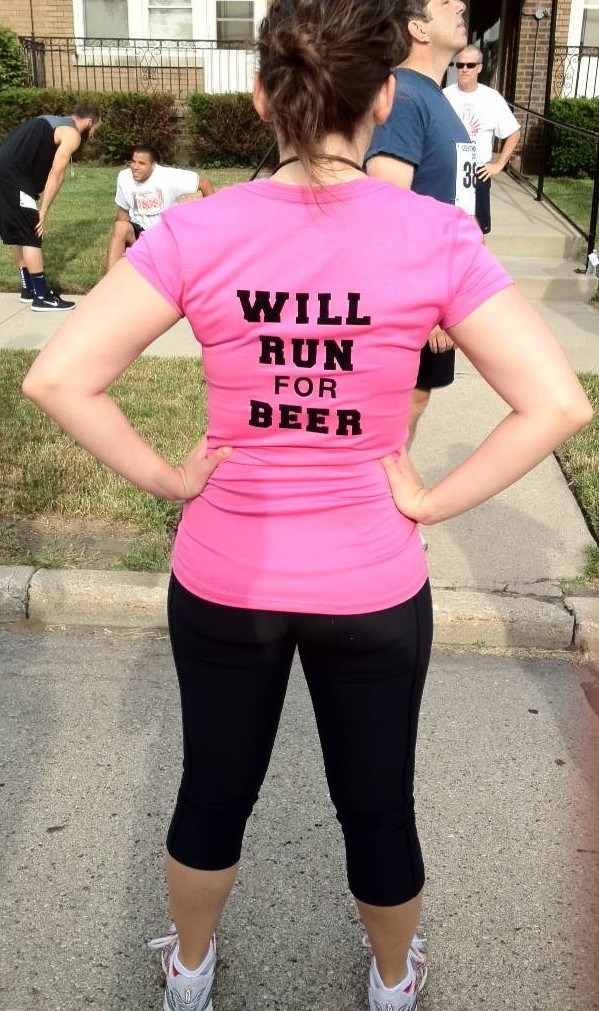 Will run for beer.