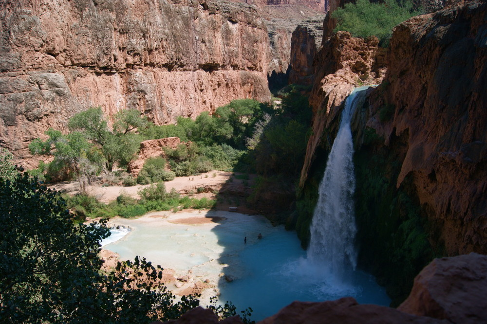 First View of Havasupai Falls