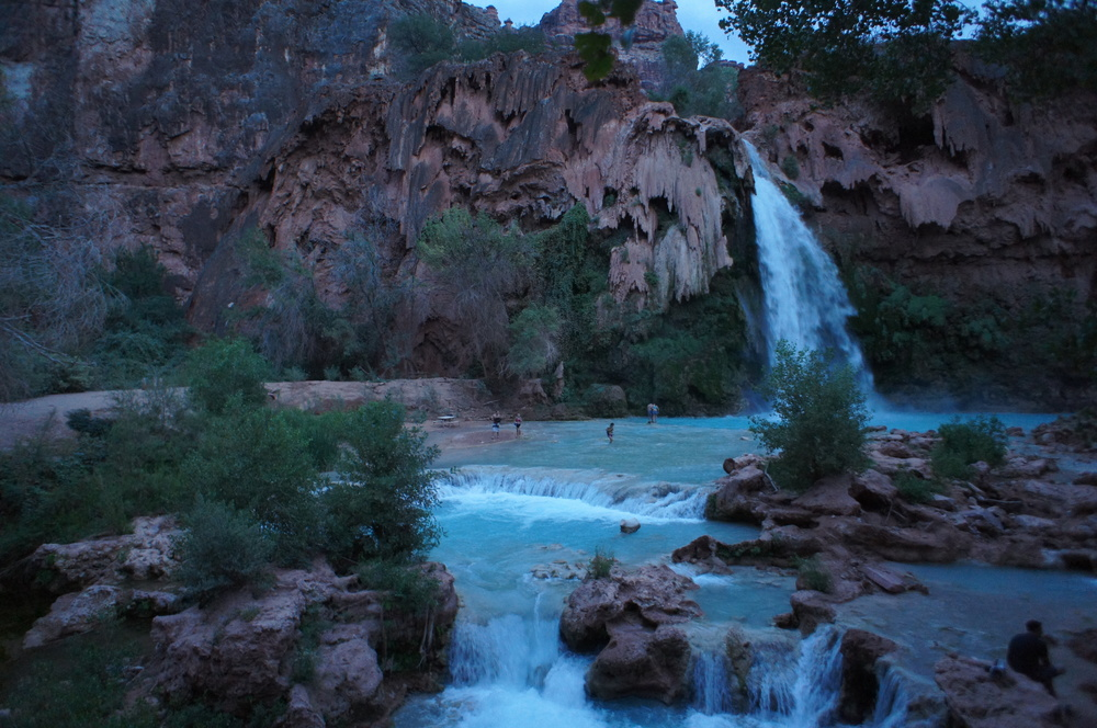 Havasupai Falls at Night
