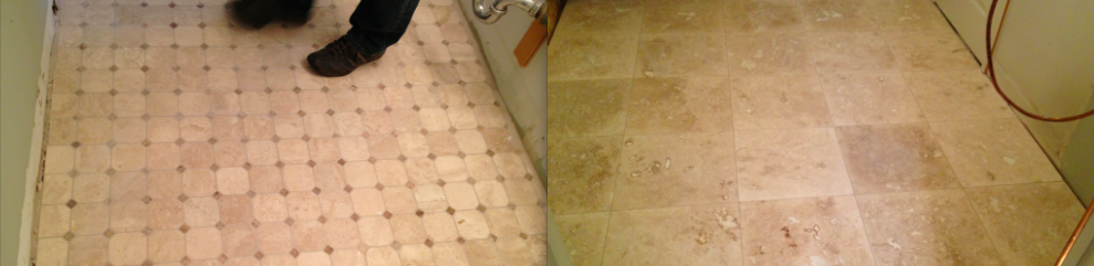 New Bathroom (Left) and Kitchen (Right) Tile