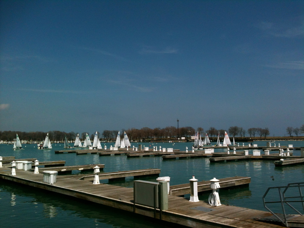 Sailboats in Belmont Harbor