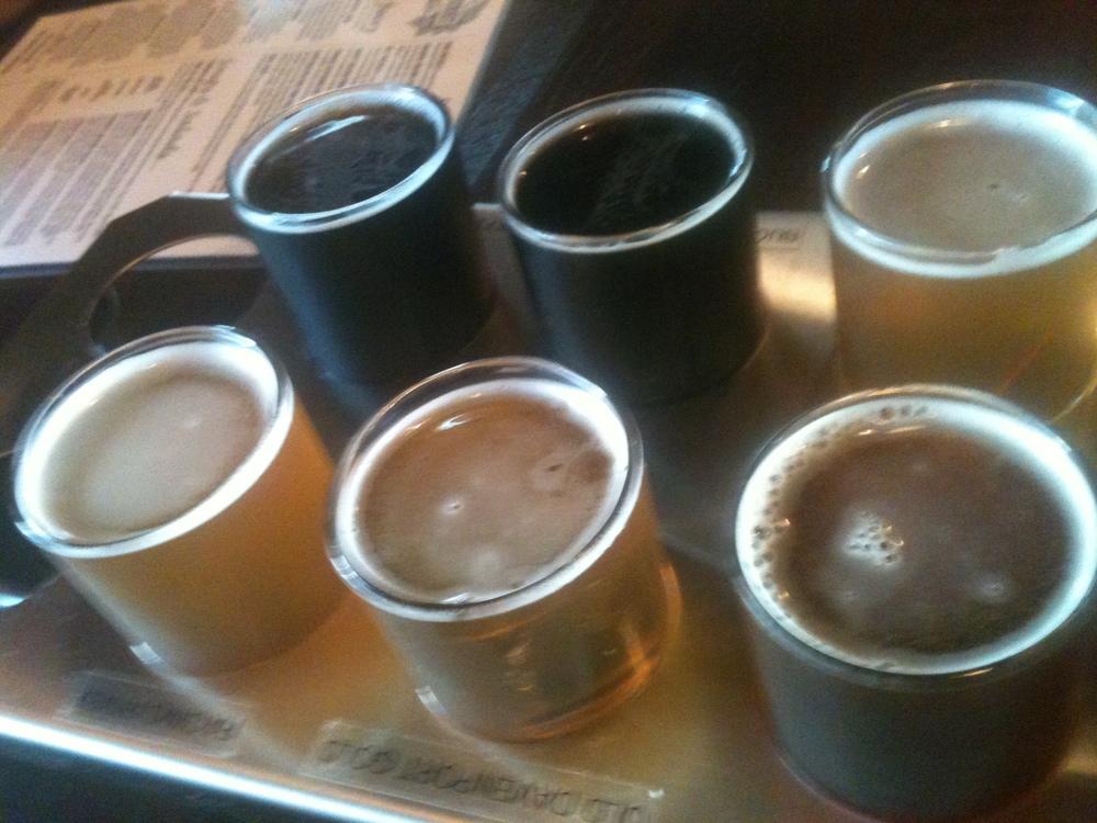 Front Street Brewery beer sampler