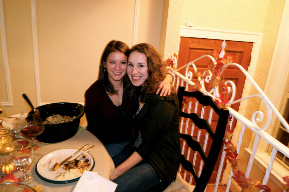 Sarah and I - old roommates