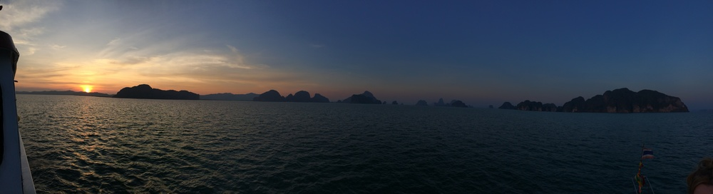 Beautiful sunset over Phang Nga Bay