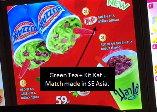 Green Tea + Kit Kat