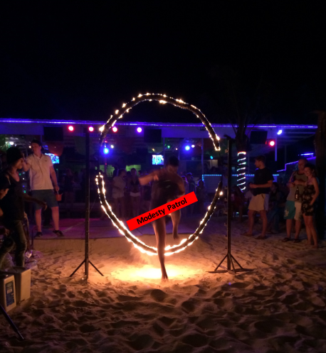 Fire shows on Koh Phi Phi