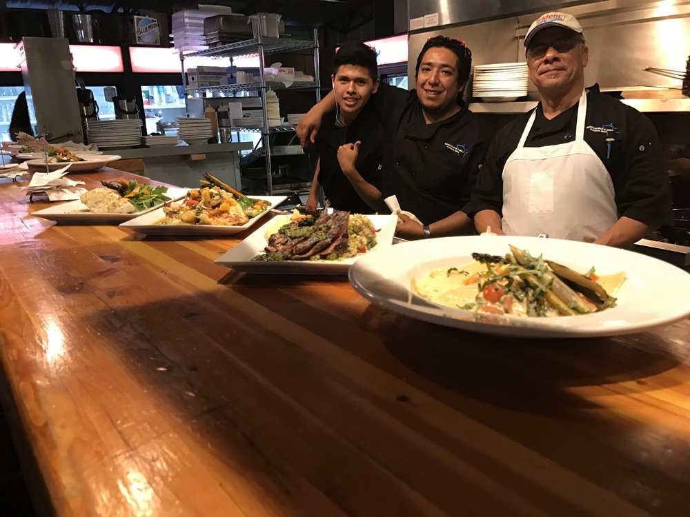 Our awesome kitchen staff and some local and seasonal specials