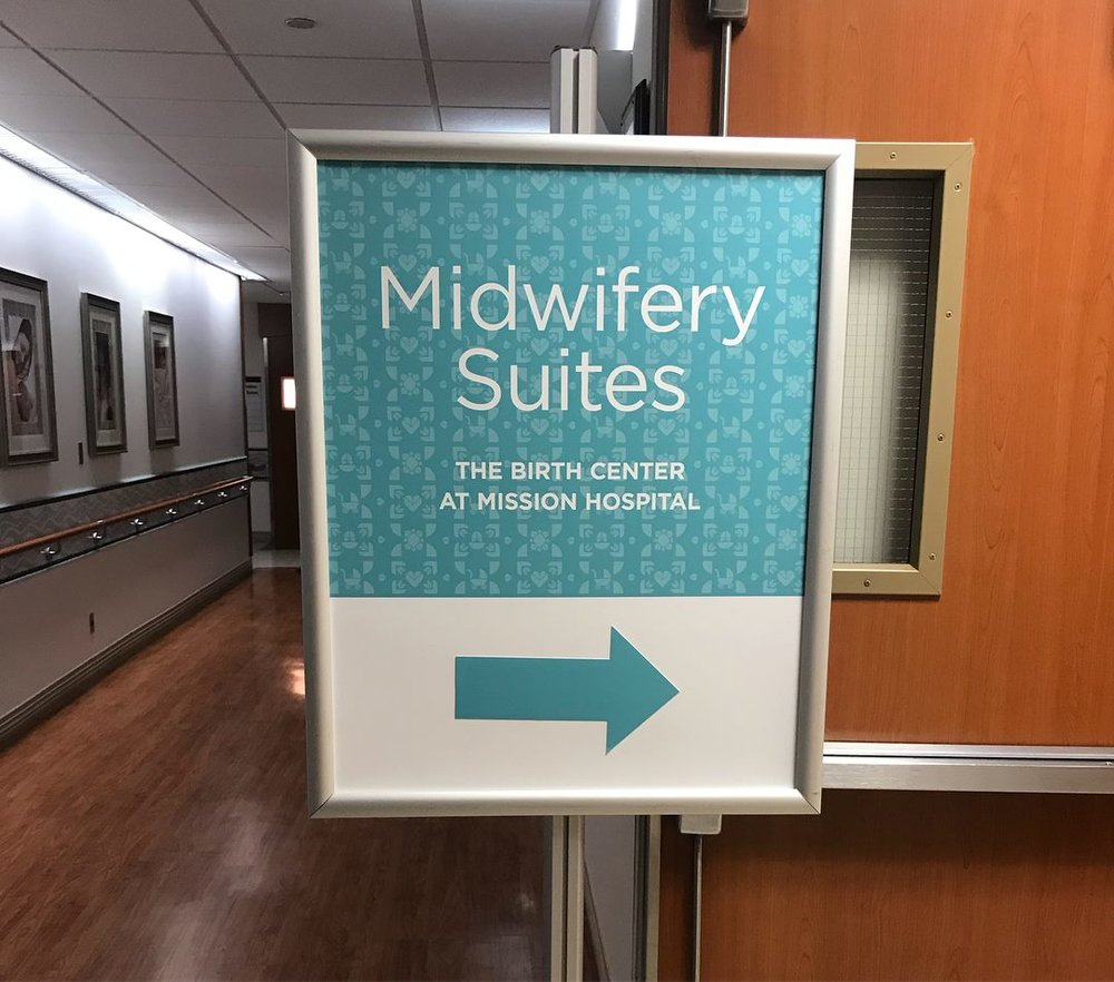 Midwifery Suites Sign