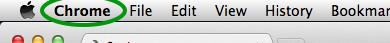 Click on the Chrome menu.