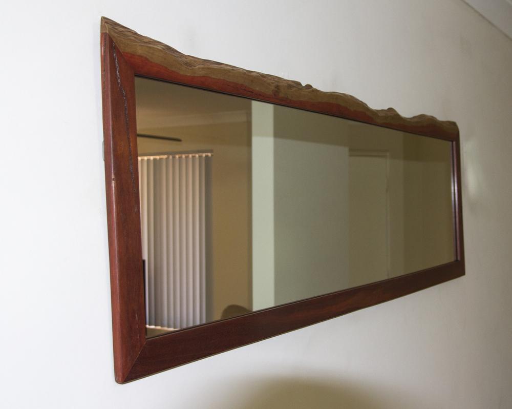Jarrah Mirror Frame - Natural Top Edge