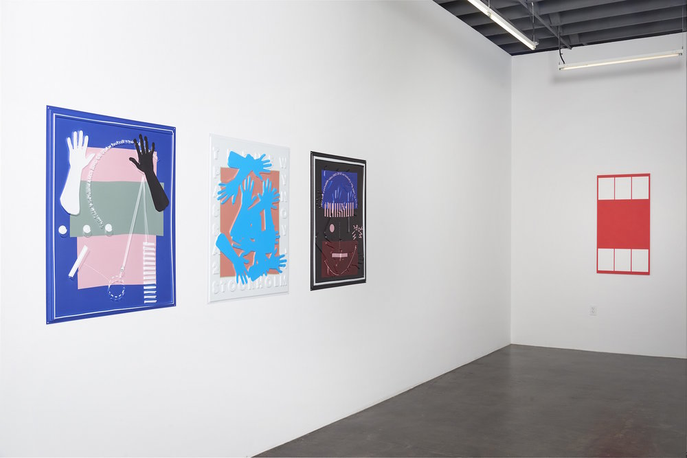 Installation view of 'Twist' at fused, showing works by José León Cerrillo and Lisa Williamson.  (Courtesy of Jessica Silverman Gallery)