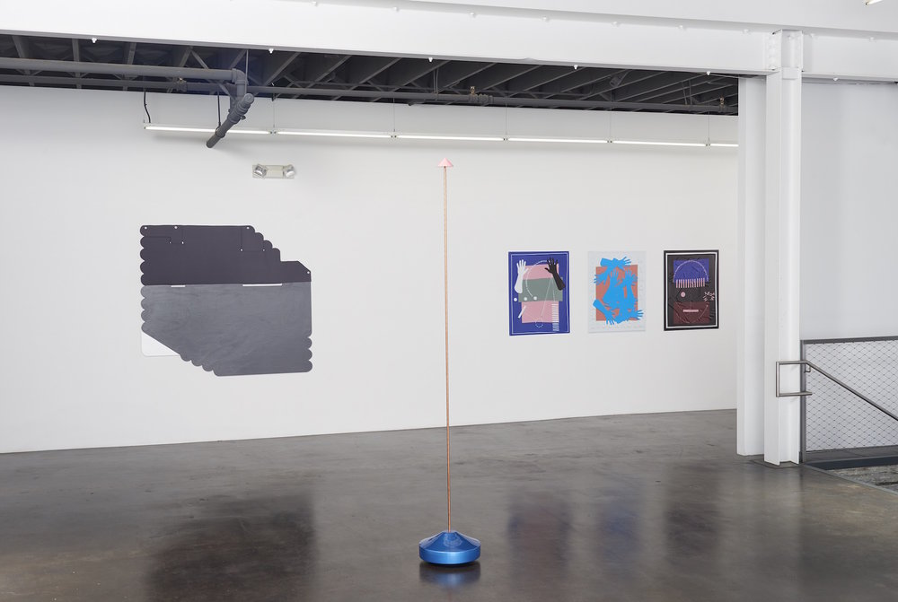 Installation view of 'Twist' at fused, showing works by Ruth Root, Reuven Israel and José León Cerrillo.  (Courtesy of Jessica Silverman Gallery)