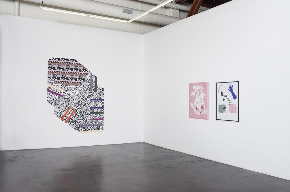 Installation view of 'Twist' at fused, showing works by Ruth Root and José León Cerrillo.  (Courtesy of Jessica Silverman Gallery)