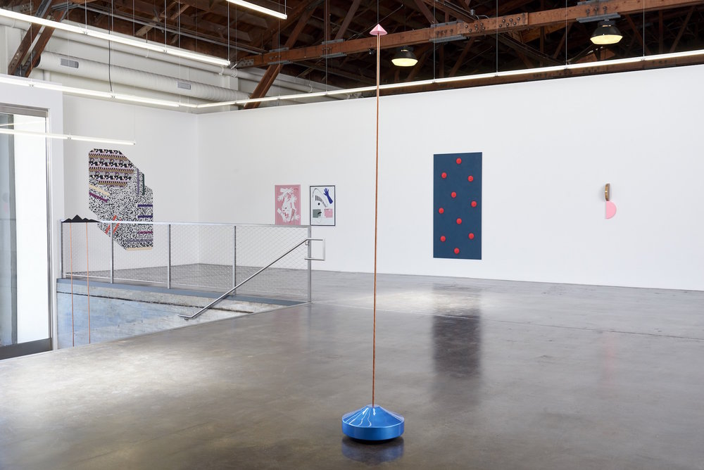 Installation view of 'Twist' at fused, showing works by Reuven Israel, Ruth Root, José León Cerrillo and Lisa Williamson.  (Courtesy of Jessica Silverman Gallery)