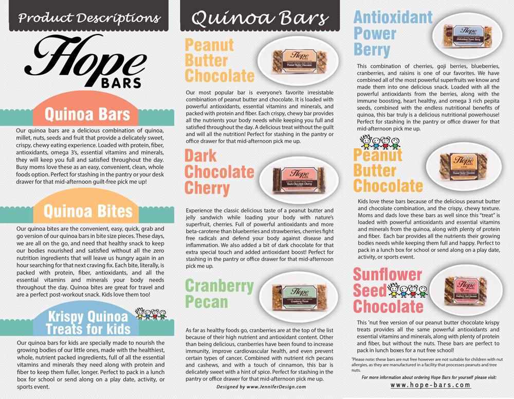 Hope bars brochure inside