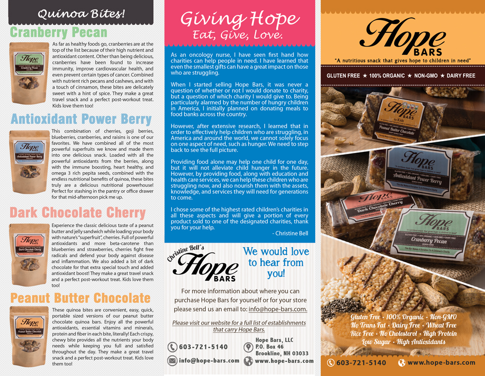 Hope Bars brochure outside