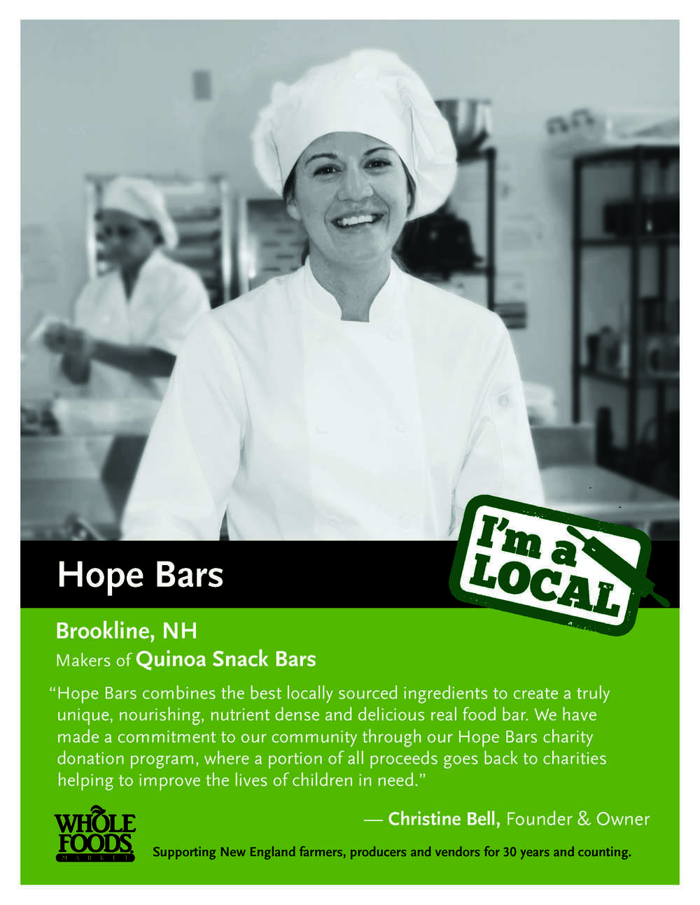 Hope Bars Whole Foods Christine Bell