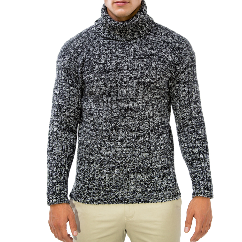 editionoo4-mens-rollneck-cashmere-chunky-sweater-black-white-front