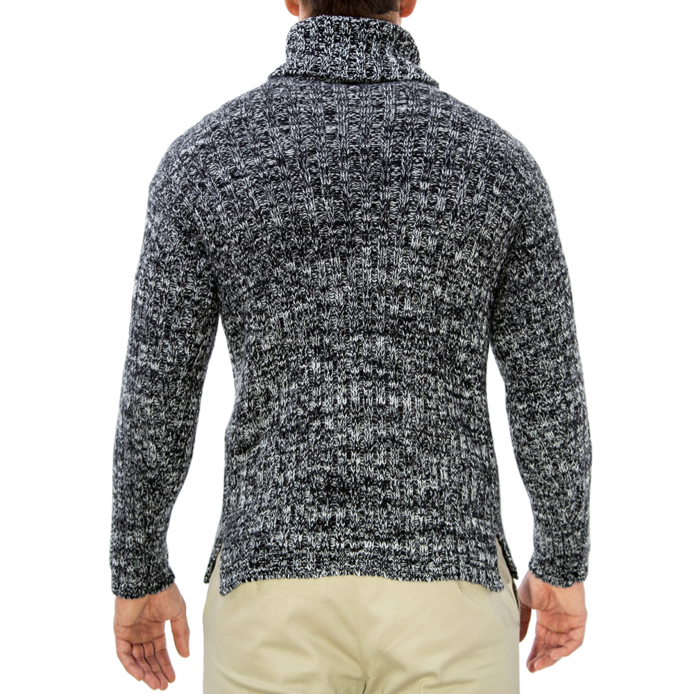 editionoo4-mens-rollneck-cashmere-chunky-sweater-black-white-back