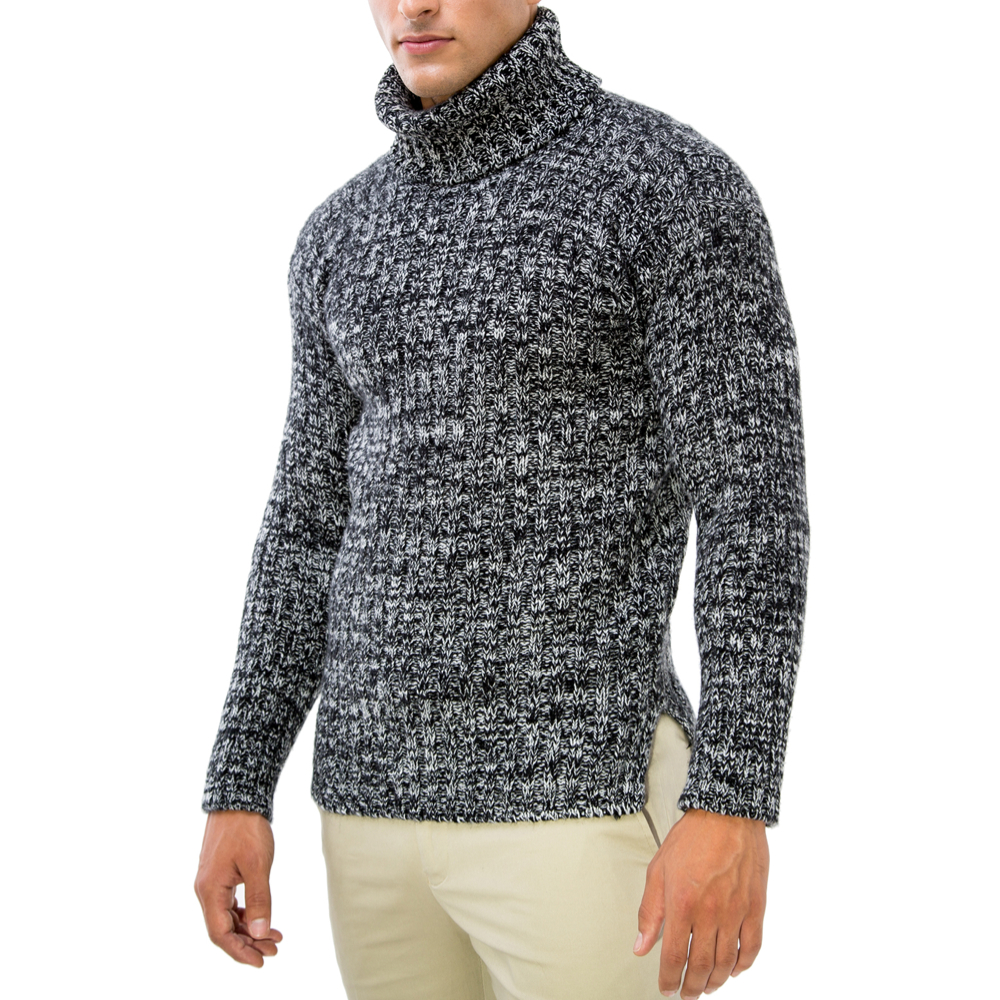 editionoo4-mens-rollneck-cashmere-chunky-sweater-black-white-side