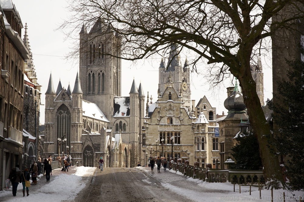 Ghent (Gand/Gent) under snow