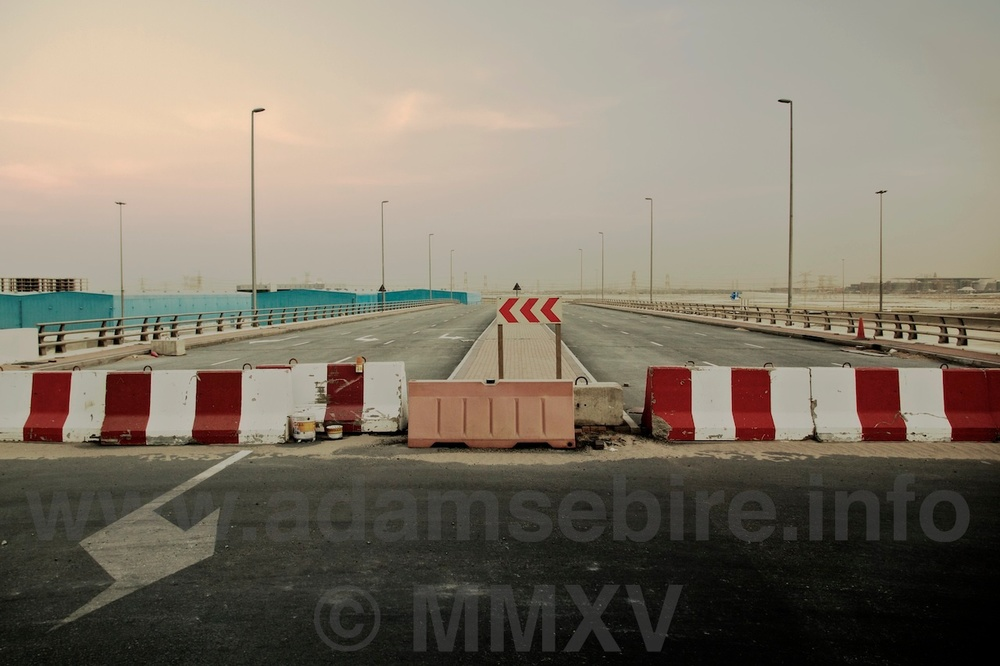 "Road Nº6 from the series ""Roads to Nowhere"" — Dubai and the global financial crisis (GFC)."