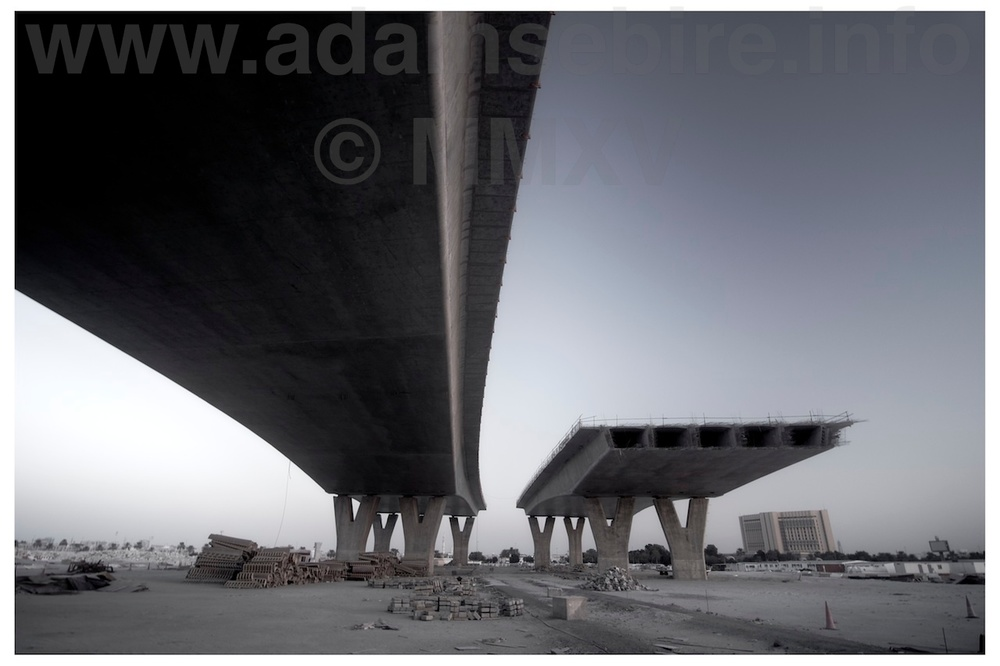 Flyover #1 (2012) from the series  Roads to Nowhere  by Adam Sébire.