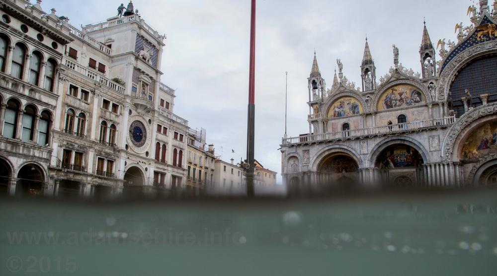 Venice Piazza San Marco disappears underwater during acqua alta flooding
