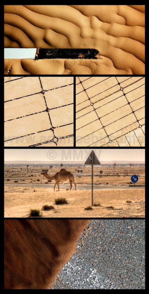 Roundabout #2 - pentaptych (2012) from the series  Road to Nowhere  by Adam Sébire