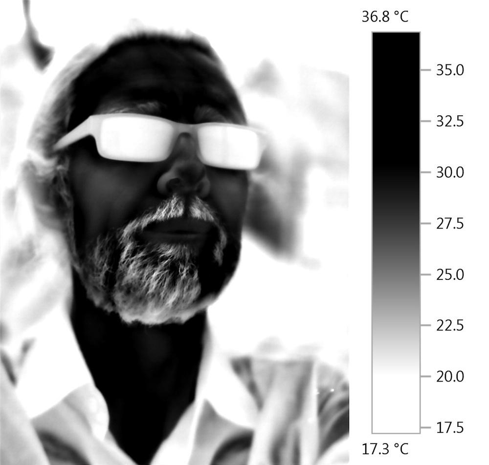 Adam Sebire - thermal imaging portrait