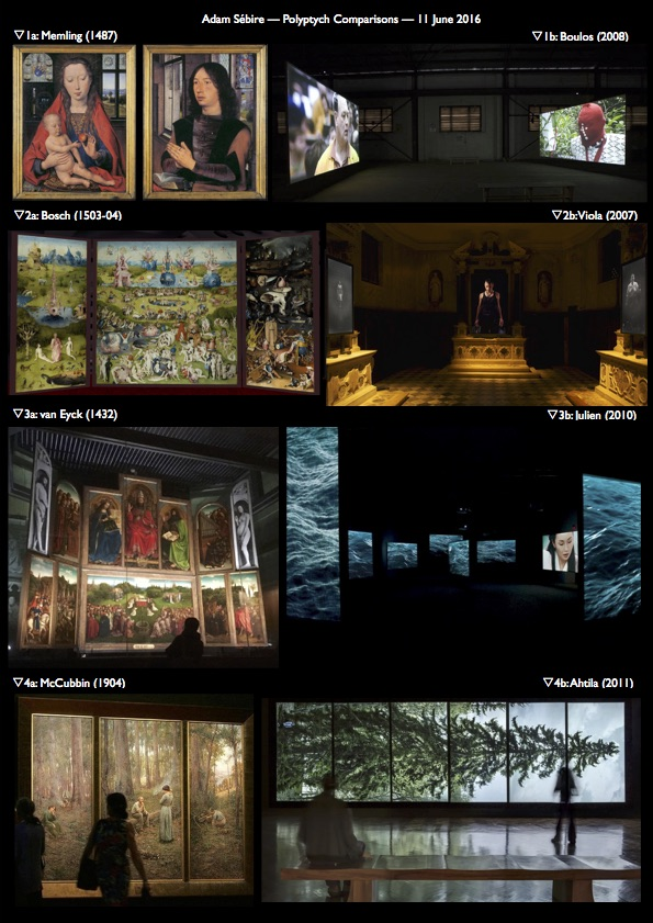 Video Polyptych Comparisons - Adam Sebire PhD