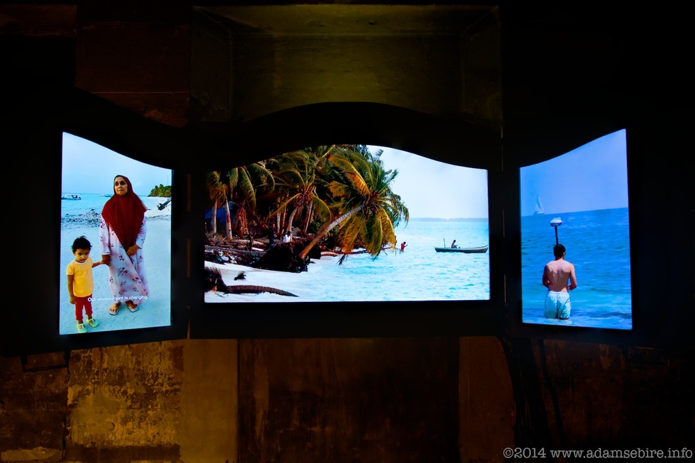 Image from Adam's 5-screen documentary, No Man is an Island - Polyptych Nº2 (2013).