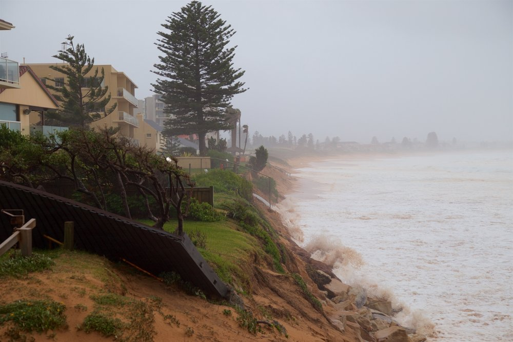Storm washes away waterfront real estate, Sydney