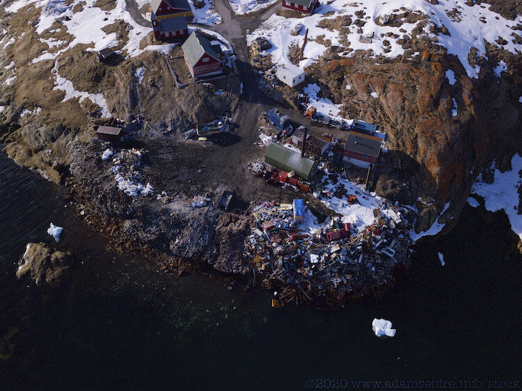 Town dump for indigenous community island, NW Greenland