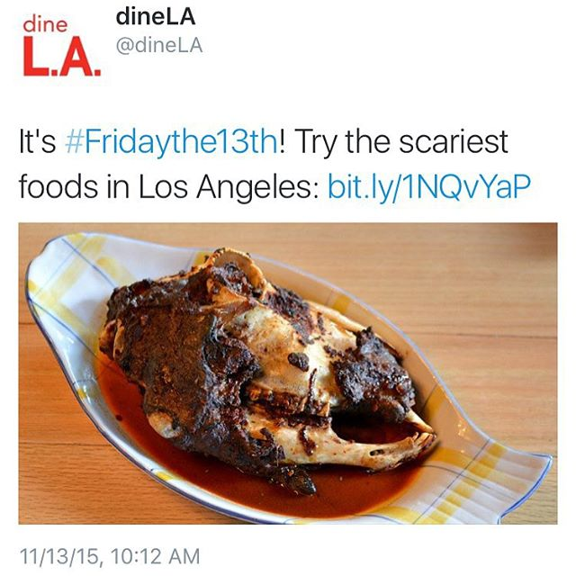 It's Friday the 13th! Share some the scariest food to tackle in Southern California 😱 #friday13th #california #losangeles #foodie #RPBLQ