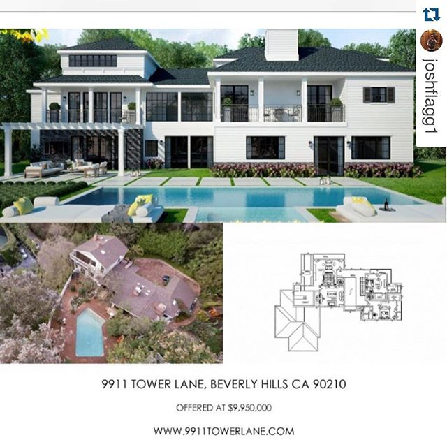 Contact us for inquiries #RPBLQ #Repost @joshflagg1 ・・・ 9911towerlane.com just listed $10,000,000 amazing opportunity to build a 16,000 house in lower Beverly Hills #mdlla #bh