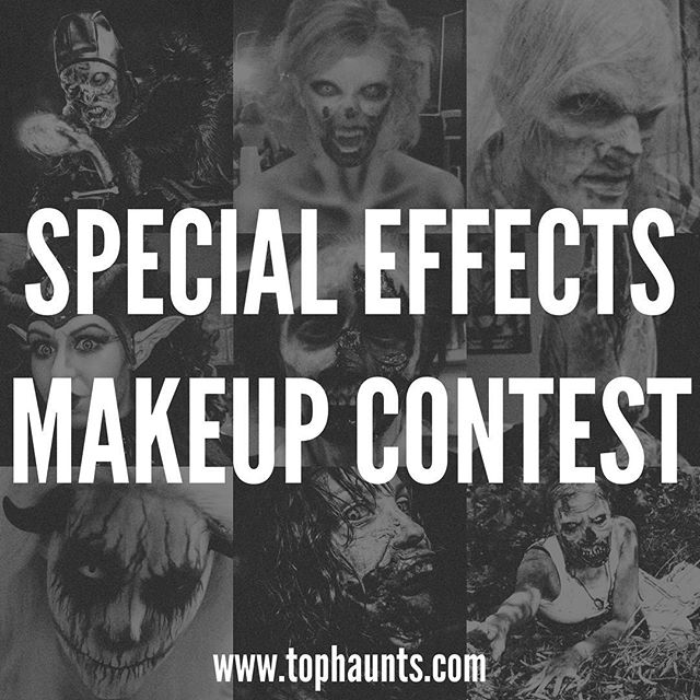 Our special effects makeup contest starts this weekend! Find out how to enter to win awesome prizes from @samhaincontactlenses and #paascheairbrush at www.tophaunts.com/contests! We look forward to receiving your submissions! The winner of our last contest was @asseenonstevie from @realmofterror. #tophaunts #specialeffects #spfx #fxmakeup #contest