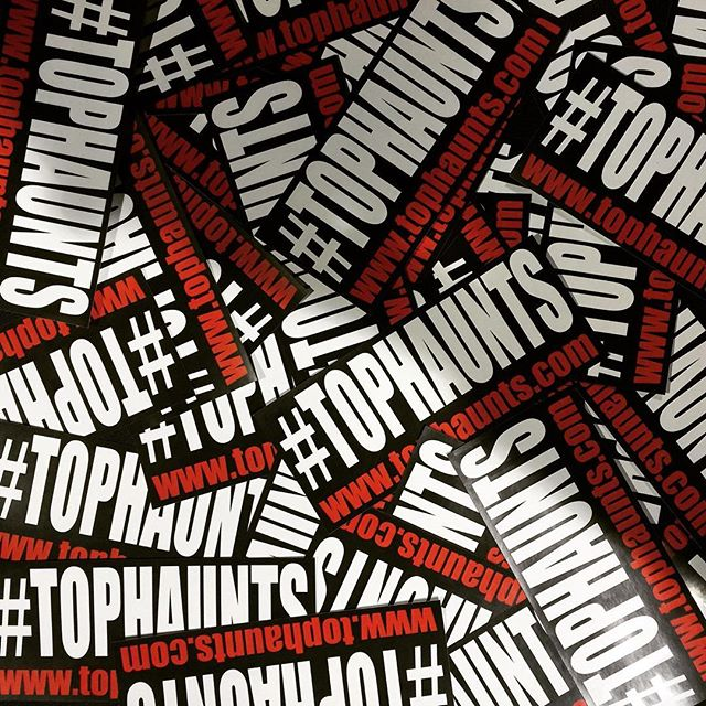 Make sure to stop by our booth at Midsummer Scream to get your free #tophaunts stickers! #midsummerscream