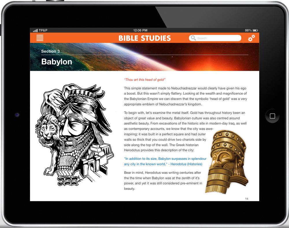 Daniel 2 iBooks Bible Study - Download for iPad