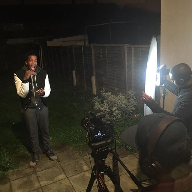 Clarke Collins filming a new video tonight #PreachingPlace #film #filming #video #record #canon #night