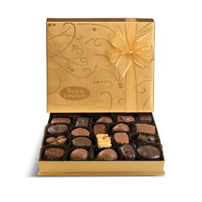 Something Sweet!     See's Candies Gold Fancy Box