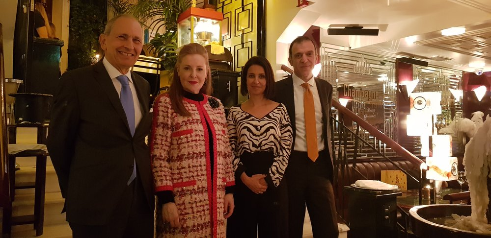 From Left to Right: Sir Bernard Rix, Ms. Irene S. Daifas, Deputy Mayor of Piraeus in charge of culture and President of Piraeus Marine Club, Mrs Natalia Margioli, Managing Director of HMC and Mr Ian Walden, Director of CCLS, QMUL