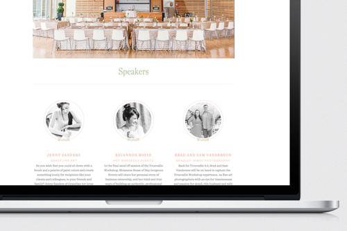 Custom branding details were used throughout the site a feminine, refreshing feel.