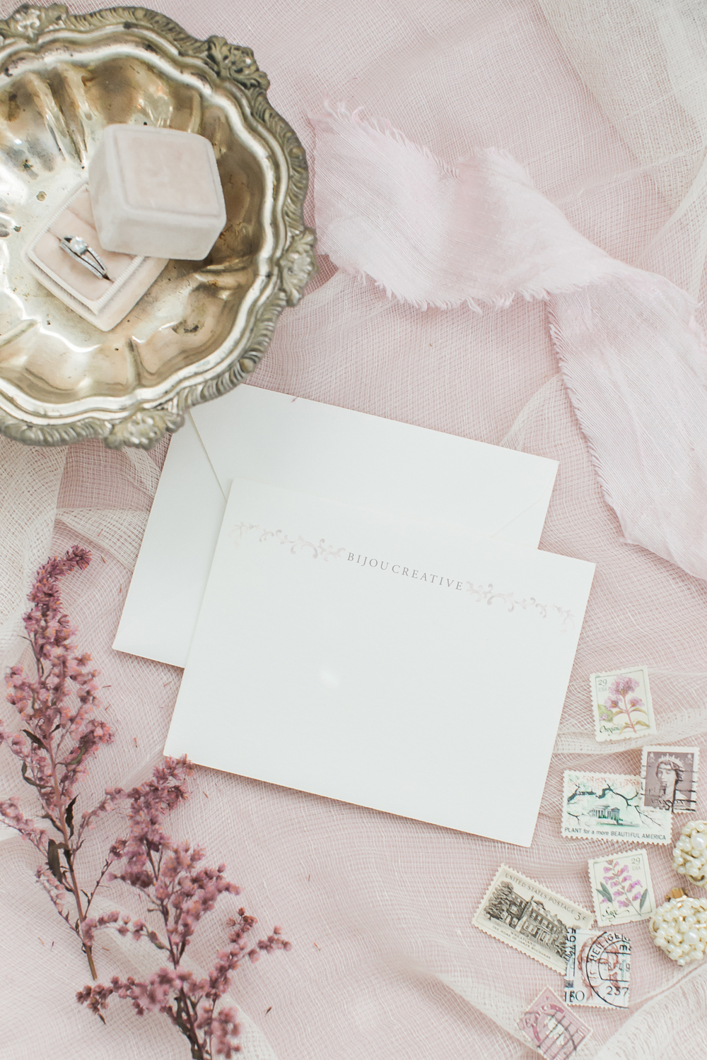feminine romantic brand design by Crème Brands