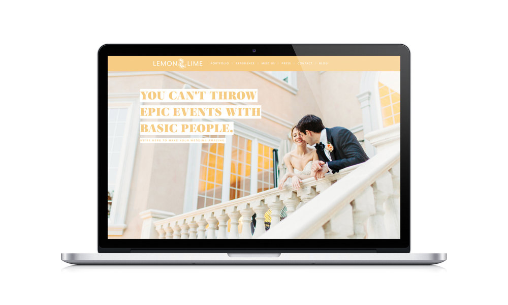 custom unique timeless clean fun site design by Crème Brands