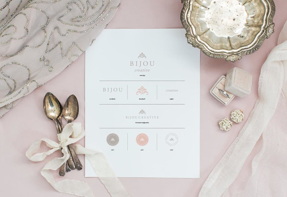 branding for classic wedding artists by Crème Brands