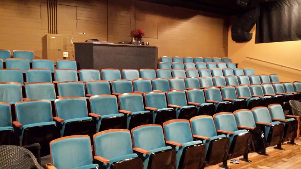 Cushy Blue Theatre Seats